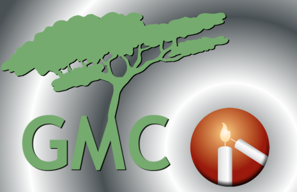 """Image of a green tree and the Messiah logo - reads """"GMC"""""""