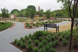 Benches and gardens