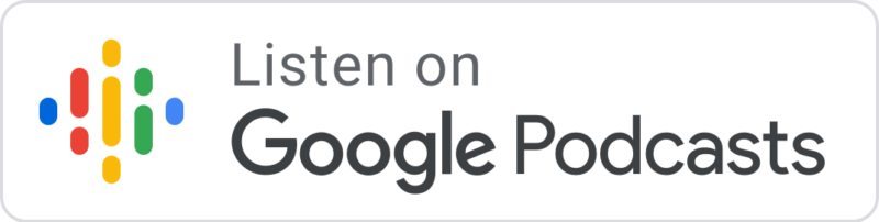"Google Podcasts Logo with text ""Listen on Google Podcasts"""