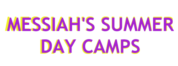 "Text that reads ""Messiah's Summer Day Camps"""